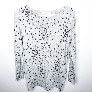 Grey Sweater with Bird Silhouettes